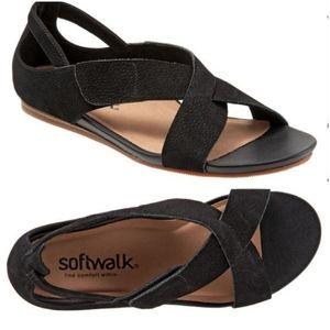 NWOT Softwalk Camilla cross strap velcro sandals 9